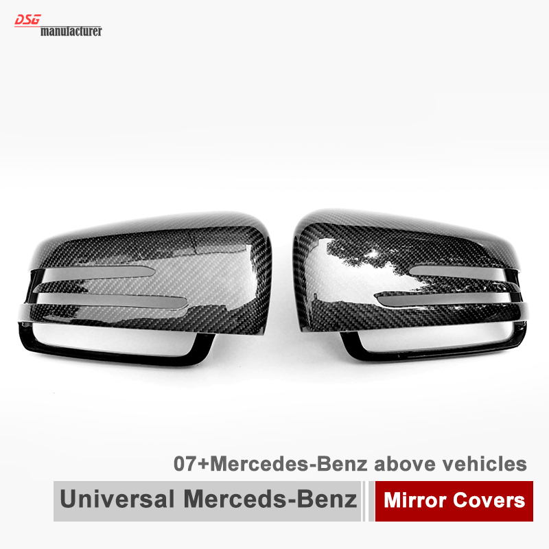 Mercedes W204 W176 porte en fiber de carbone couverture de miroir pour Benz CLA W117 une classe W176 E coupé W207 W212 CLS W218 GLA X156 W216