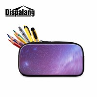 Dispalang Spiral Galaxy Boys Student Zippered Pencil Set Stars Large Pen Bags For Primary Students Office