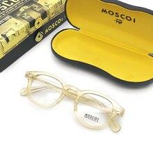 2eaabbc70c2bf Espetáculo óptico óculos de Armação Homens Johnny Depp Moscot YQ551  Computador Prescrição Lente Clara Do Vintage Óculos de Armaç.