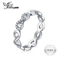 JewelryPalace Infinity Forever Love Cubic Zirconia Anniversary Promise Ring Pure 925 Sterling Silver Jewelry For Women