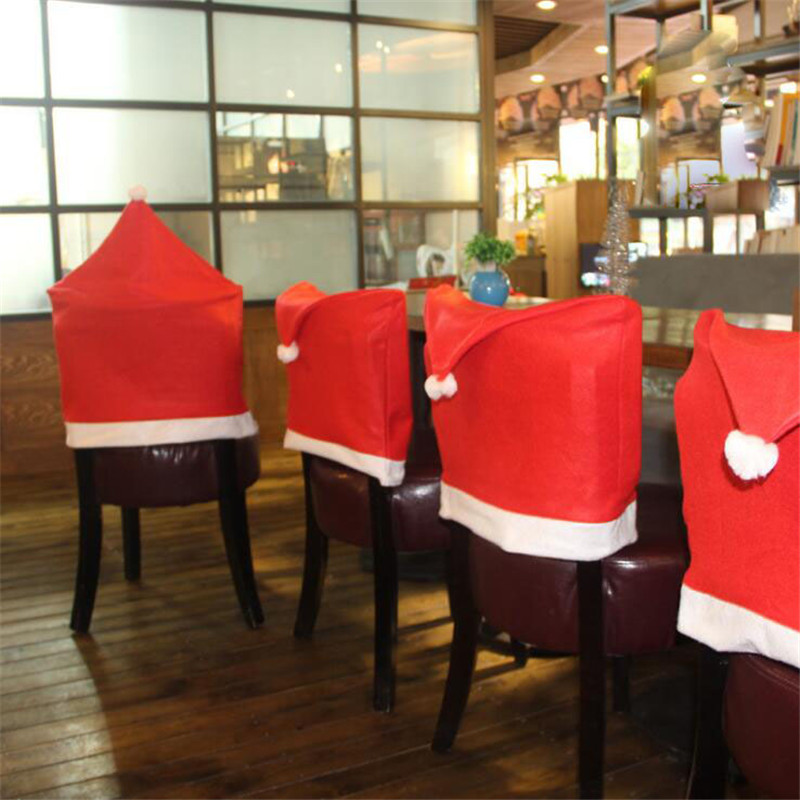 2016 Christmas Products Supplies 1pc Seat Cover Chair Santa Claus Hat Dinner Decoration Hot Gift In Pendant Drop Ornaments From Home