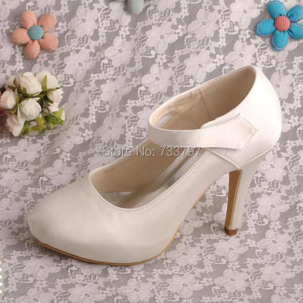 Wedopus MW304 Custom Handmade Mary Jane Women Bridal Wedding Shoes High Heeled