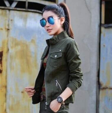 Bomber Military Jacket Women Fashion 2017 Spring/Autumn Vintage Coats Jaqueta Feminina Plus Size 3XL Camouflage Women Jackets