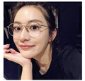 Retro Classic Semi-Rimless Men Women Glasses Frame Super Light Weight Alloy Round Frame Clear Lens Eyeglasses