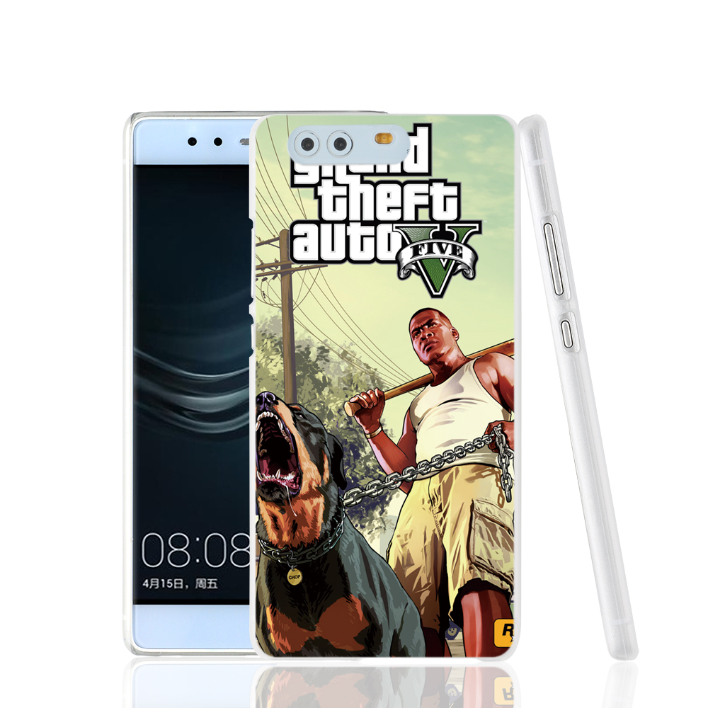 22691 GTA V 5 Franklin and Chop phone Cover Case for huawei Ascend P7 P8 P9 lite plus Maimang 4 G8 G7 Y6 honor V8