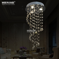 Spiral Design Crystal Ceiling Light Fixture Small Stair Crystal Light Fitting Lustre Lamp Dining Light D400mm