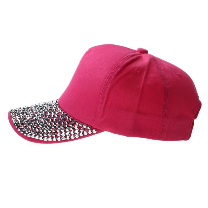 Rhinestone Female Baseball Cap Lady Children Girl Women Bling Bling Diamond Hat Gorras Snapback Hip Hop Hat Casquette fashion real friends hat women men letter baeball cap snapback casual hip hop dad hats casquette gorras