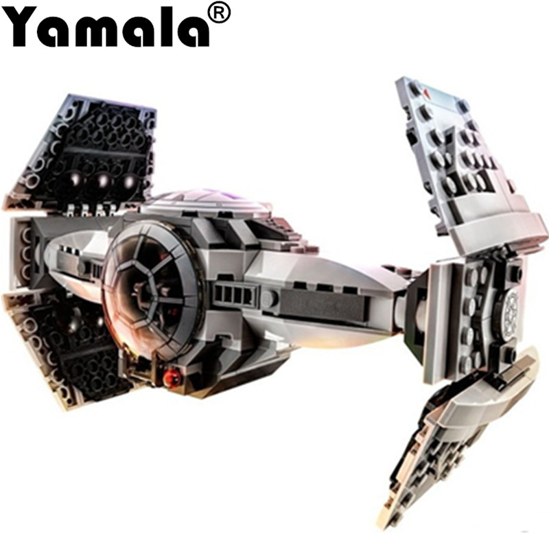 [Yamala] 369pcs Star Wars The Force Awakens TIE Advanced Prototype Building Blocks Toys Gifts Compatible With Legoe 84pcs star wars the force awakens jakku rey star general minifigure building blocks model bricks toys compatible legoe 75113