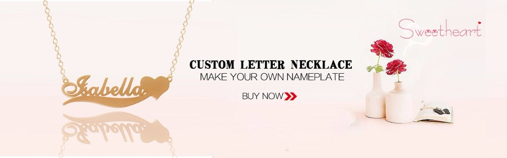 CHENGXUN Custom Name Carved Necklace Rose Gold Silver Fancy Flower ... 351140c5a9d8