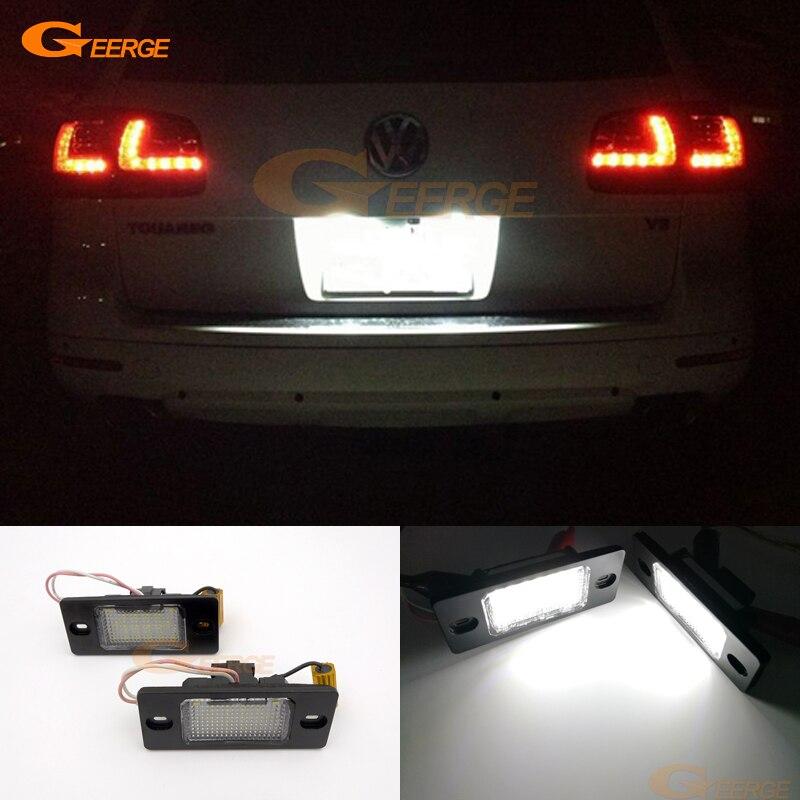 Für Volkswagen VW Touareg 2004-2010 Ausgezeichnete Ultra helle 18 smd 3528 Epistar Led kennzeichenbeleuchtung Keine OBC fehler