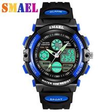 Children Digital Watch Sports Watches LED Quartz Alarm Stopwatch Hour Waterproof Dress Watches Children s Night