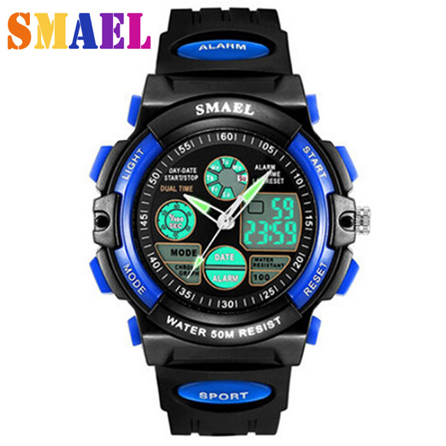 Children Digital Watch Sports Watches LED Quartz  Alarm Stopwatch Hour Waterproof Dress Watches Children's Night Light function