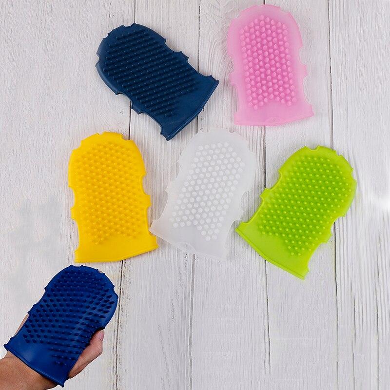 Silicone Soft Massage Scrub Gloves For Peeling Body Bath Brush Exfoliating Gloves For The Bath Body Brush 1Pcs