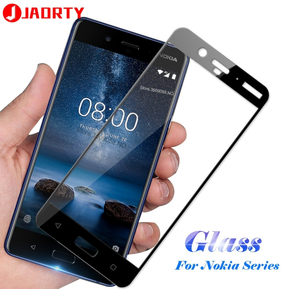 Tempered Glass Full Cover Screen Protector For Nokia 3 3.1 5 5.1 Plus 6 6.1 Plus 7 Plus 7.1 8.1 Phone Protective Glass Film