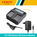 Lvsun universal dc y cargador para en-el3e batería de la cámara del coche enel3e li-ion batería de la cámara para nikon d30 d50 d70 d90 D70S