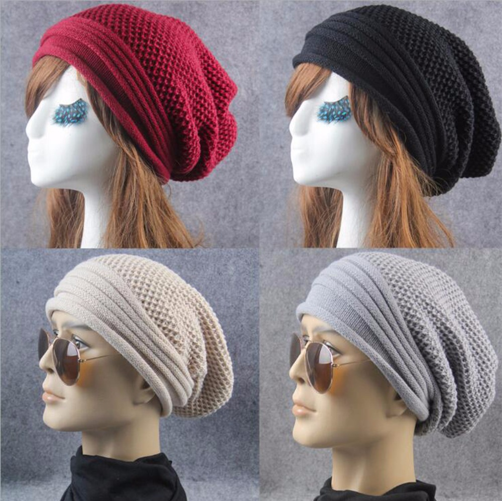 Autumn winter beanies hat unisex knitted wool Skullies casual cap solid colors Men/Women cap Adjustable Chic Hip-Hop Hat d1035 wool skullies cap hat 10pcs lot 2289