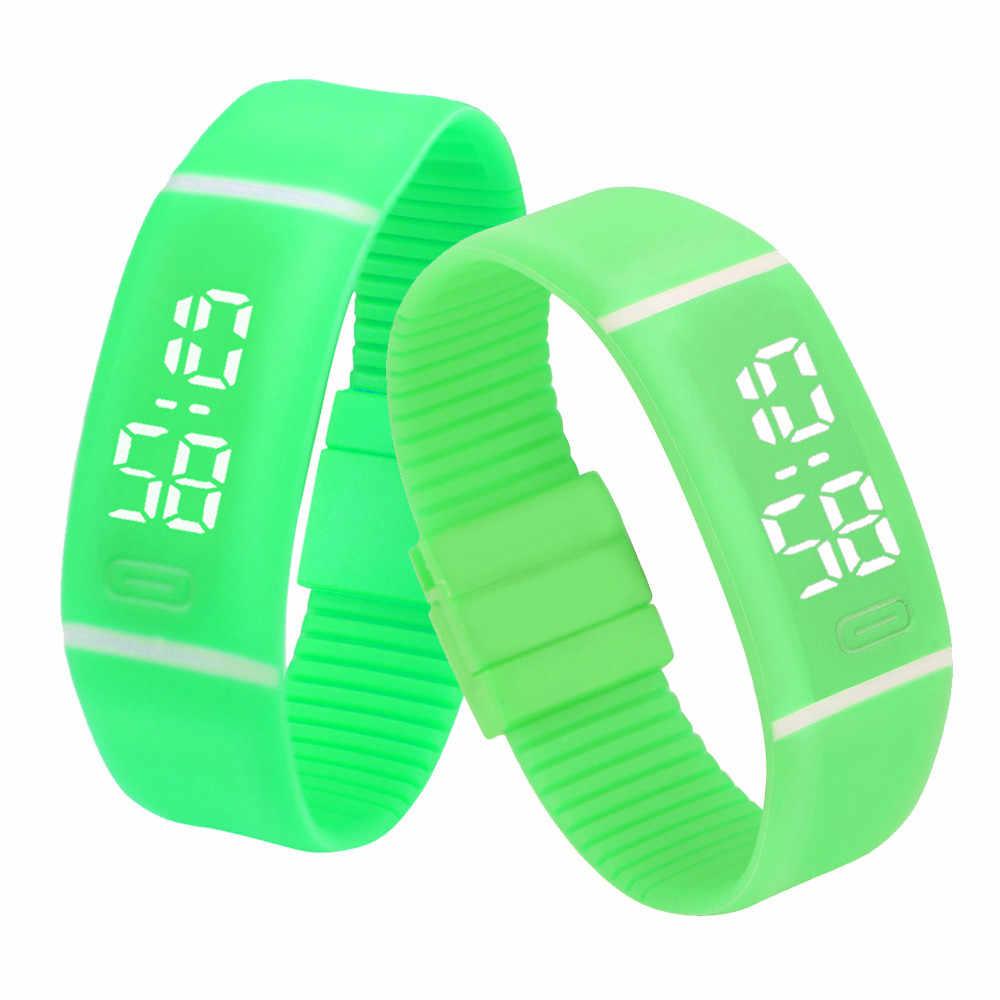 Reloj Digital niños hombres mujeres relojes LED de goma fecha reloj militar del ejército pulsera deportiva reloj Masculino