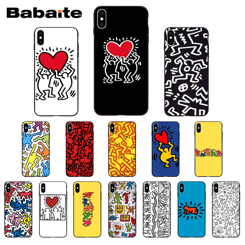 Babaite Keith Haring Soft Silicone Tpu Phone Cover For Iphone 8 7 6 6s Plus X Xs Xr Xsmax 5 5s Se 5c Coque11 11pro 11promax