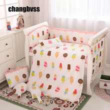 Hot!!New Arrival Baby Crib Bed Linen,Baby Cot Bedding Set,Striped Crib Bedding,Beddengoed Baby Cot Bumper,Juegos De Sabanas Cama