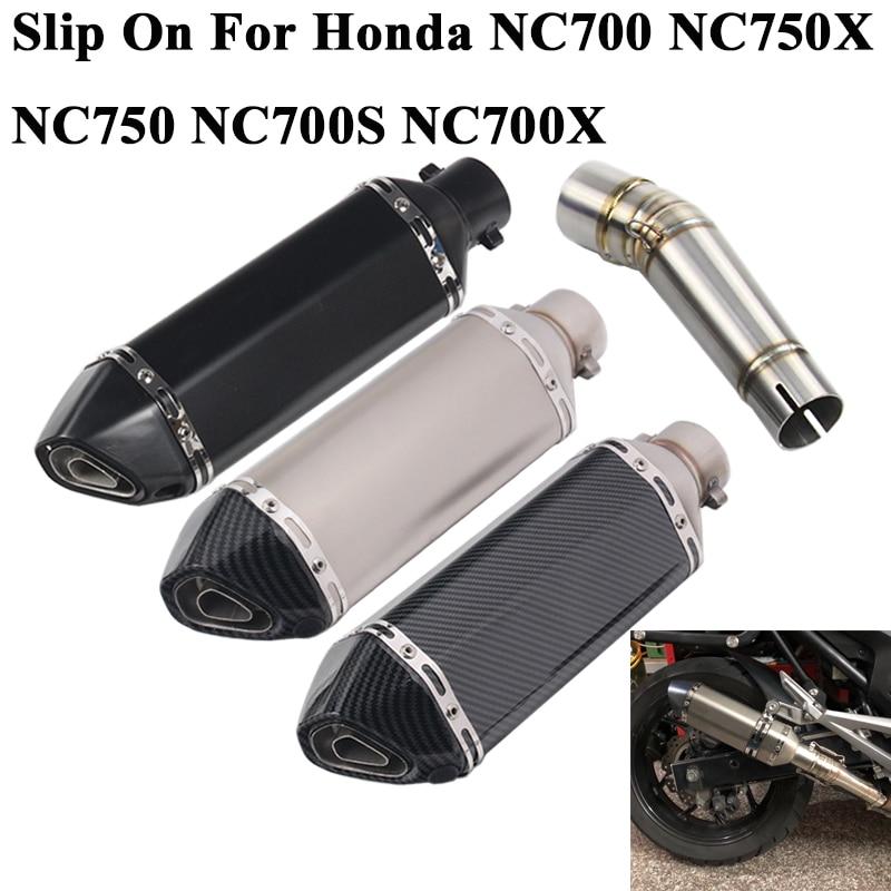 Sans lacet pour Honda NC700 NC700X NC750 NC750X NC700S moto Akrapovic tuyau d'échappement échappement silencieux DB tueur tuyau intermédiaire