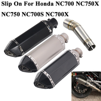 Slip On For Honda NC700 NC700X NC750 NC750X NC700S Motorcycle Akrapovic Exhaust Pipe Escape Muffler DB Killer Middle Link Pipe