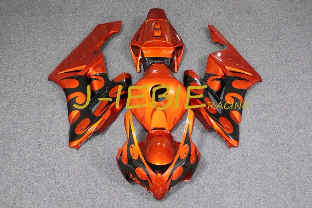 Orange black fire Injection Fairing Body Work Frame Kit for HONDA CBR1000RR CBR 1000 CBR1000 RR 2004 2005