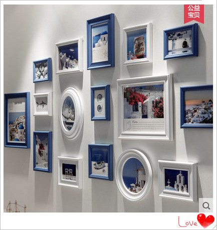 Multi Size and Color Home Decoration Modern Photo Frame Collage Set ...