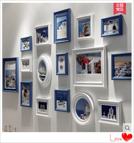 Multi Size And Color Home Decoration Modern Photo Frame Collage Set