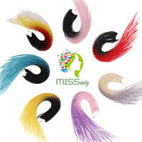 FRÄULEIN PERÜCKE Ombre Senegalese Twist Haar Häkeln zöpfe 24 zoll 30 Wurzeln/pack Synthetische Flechten Haar für Frauen grau, blau, rosa, bro
