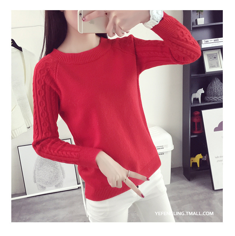 2019 Cashmere wool Sweater Autumn Winter O neck Long Sleeve Knitted solid Color Pullovers Female Warm Tops in Pullovers from Women 39 s Clothing