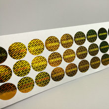 100 Золотая оригинальная голограмма, охранные этикетки, трамбовочная видимая наклейка 15 мм x 15 мм/0,59 ''x 0,59''