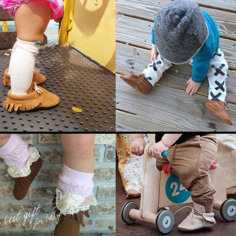 2019 новорожденных Для маленьких мальчиков и девочек Мокасины обувь бахрома мягкая подошва Нескользящие обувь для младенцев из искусственной замши первые ходунки обувь
