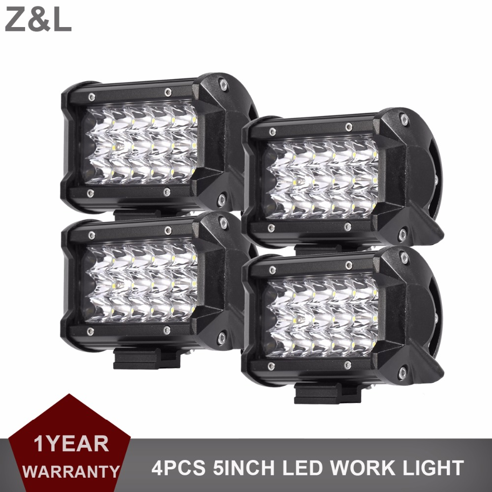 5Inch <font><b>LED</b></font> Work <font><b>Light</b></font> <font><b>Car</b></font> Motorcycle Fog Lamp Boat SUV Truck Headlight 12V 24V Trailer Wagon 4X4 RZR <font><b>Offroad</b></font> Headlight Spotlight image