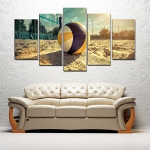 Wall Art Canvas Prints Beach Volleyball Paintings for Dining Room Decor Summer Sea Sport Poster Drop Shipping