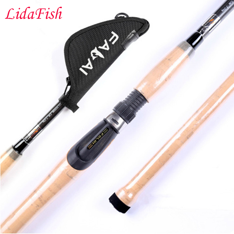 Genuine fishing rod carbon 1.8 / 2.1 / 2.4 / 2.7 / 3.0 / 3.6 meters road rod pole rods free shipping point break pq 4c wd high quality elastic rod cork handle portable rod strong sensitive sea rod fishing gear fast transport