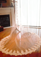 Lace Wedding Veil Cathedral Veil Sequin Lace Veil Ivory Bridal Veil 2016 New Hot Sell