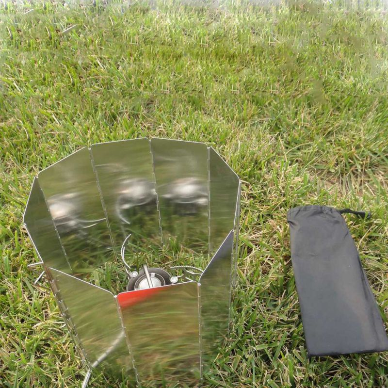 9 Plates Wind Deflectors Foldable Outdoor Camping Gas Stove Wind Shield ScreETP