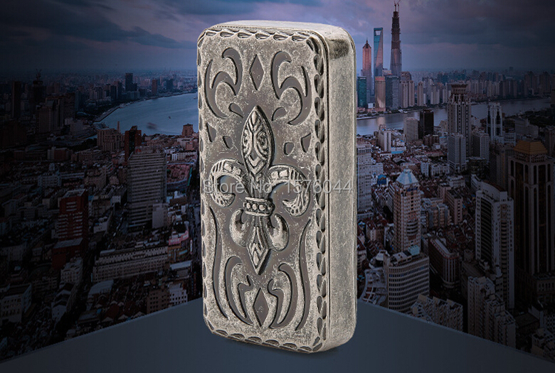 E4092 Ultrathin windproof convenient fashion USB rechargeable lighter RETRO CHROME hearts font b electronic b font