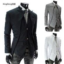 XingDeng Autumn and winter asymmetric suit jacket men's