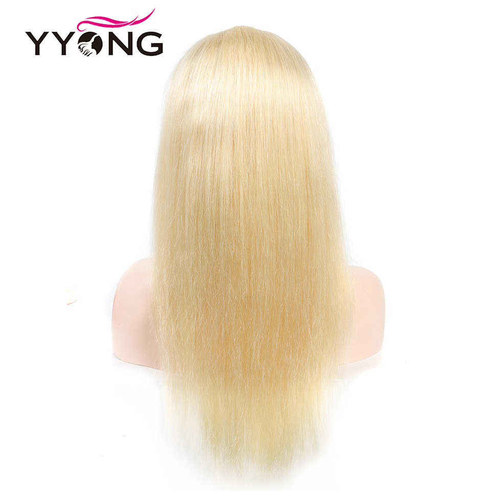 Yyong 613 12x3 Lace Front Human Hair Wigs For Black Women Pre Plucked Hairline With Baby Hairs Brazilian Straight Remy Hair 120%-in Human Hair Lace Wigs from Hair Extensions & Wigs    3