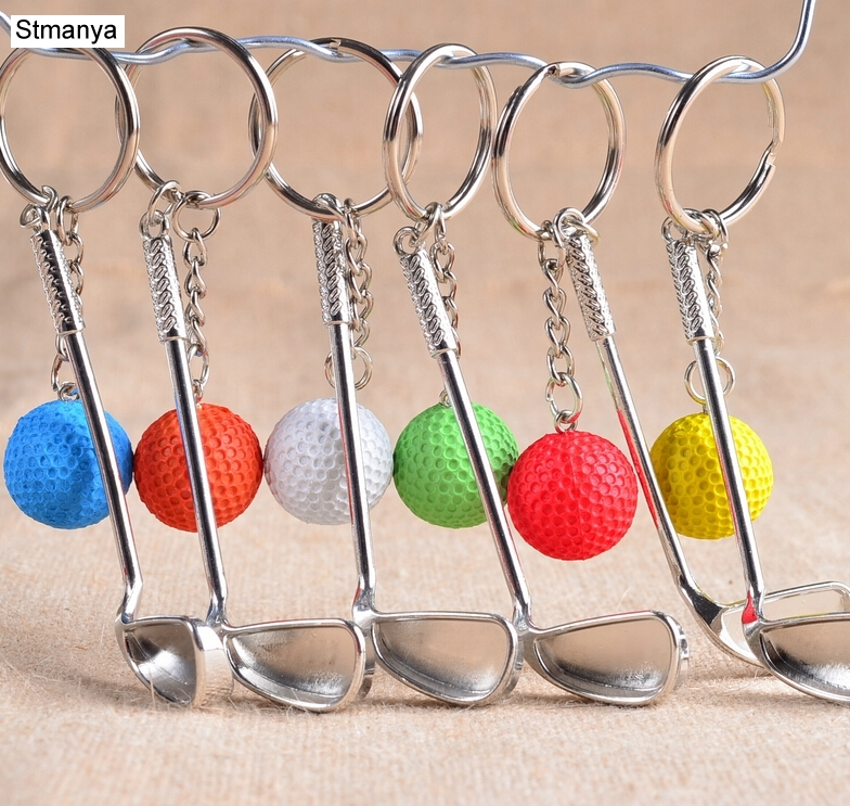 2PCS/LOT New Arrival Small Cute Hot Golf keychain key ring Keychain Key Chain Keyring Key Ring For Games souvenirs Gift #17167