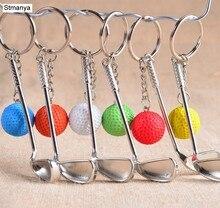 2 unids/lote nueva llegada lindo pequeño caliente Golf llavero cadena llavero anillo de llave para juegos regalos #17167