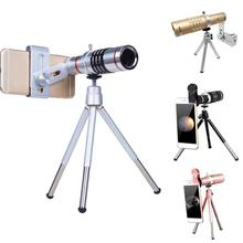 18X Metal Phone Telescope Telephoto Len for iPhone Samsung Clip-on Zoom