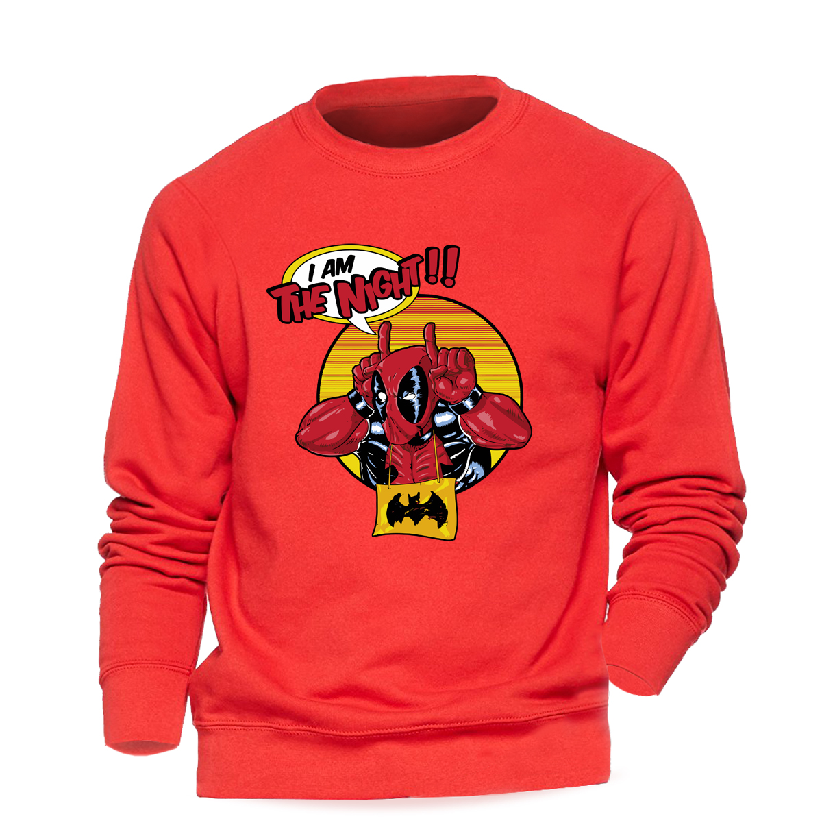 Super Hero Deadpool Hoodie Men I Am The Night Sweatshirt Funny Printed Crewneck Sweatshirts Winter Autumn Dead Pool Streetwear