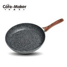 Sartén antiadherente de piedra de mármol con mango de baquelita resistente al calor, sartén para huevo de inducción de granito, Apto para lavavajillas
