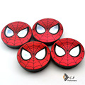 4PC*55.5mm Spiderman Car Auto Wheel Center Hub Cap Emblem Badge Sticker For Yeti Octavia Fabia 376