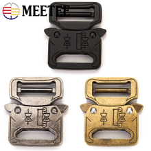 Meetee 1/2/4pcs Release Buckle ID27mm Outdoor Metal Belt Hook for Backpack Waist Bands Spring Buckles Sew Crafts Accessory AP353
