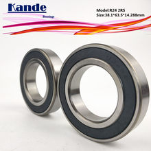 Kande Lager R24 2 stücke ABEC-1 R24 2RS Zoll Lager 38.1*63.5*14,288mm R24RS R242RS R24 2RS