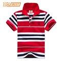 2017 novo de alta qualidade das meninas dos meninos polo camisa para crianças marca Bebê Pequeno Menino Da Criança Roupas de Verão de Algodão de Manga Curta camisetas