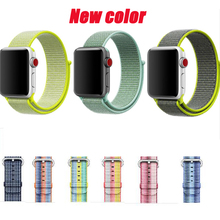 straps For Apple Watch sport loop nylon band woven 38mm 42mm 40mm 44mm bracelet For iwatch band Series 4/3/2/1 woven nylon for apple watch band 4 44mm 40mm sport loop watchband iwatch series 4 3 2 1 42mm 38mm bracelet breathable wrist belt
